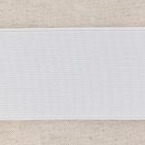 Élastique cotelé 60mm blanc