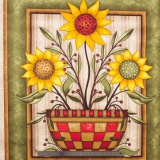 Tissu quilting treasures Sun flower bouquet - 462