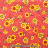 Tissu quilting treasures Sun flower bouquet