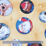Tissu quilting treasures Rudolph 50 years