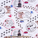 Tissu quilting treasures A dog life - 462