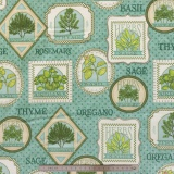 Tissu quilting treasures Herb garden