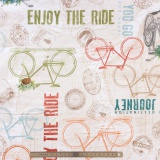 Tissu quilting treasures Life enjoy the ride - 462