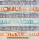 Tissu quilting treasures Life enjoy the ride