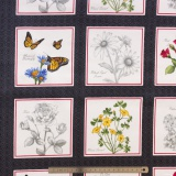 Tissu quilting treasures Floral etchings