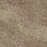 Tissu quilting treasures Ombre scroll taupe