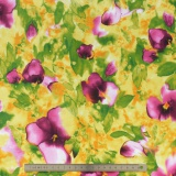 Tissu quilting treasures floral fantaisy - 462