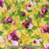 Tissu quilting treasures floral fantaisy - 462