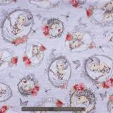 Tissu quilting treasures la vie en rose