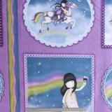 Tissu quilting treasures rainbow dreams