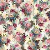 Tissu quilting treasures Rosewater