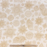 Tissu quilting treasures A tail of two kitti crème - 462