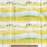 Tissu quilting treasures landscape scenic stripe