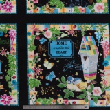 Tissu quilting treasures Bird house picture - 462