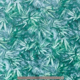 Tissu quilting treasures cannabis