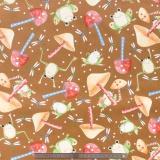 Tissu quilting treasures frog&mushroom toss - 462