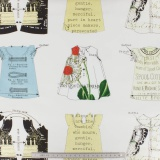 Tissu quilting treasures babydoll dress patch