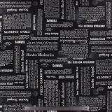 Tissu quilting treasures Newsprint noir - 462