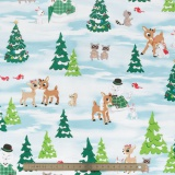 Tissu quilting treasures Fun with rudolph - 462