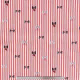 Tissu quilting treasures Bow stripe rouge - 462