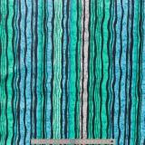 Tissu quilting treasures Wavy stripe bleu - 462