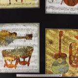 Tissu quilting treasures Instruments patch noir