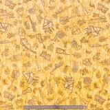 Tissu quilting treasures Instrument toile doré