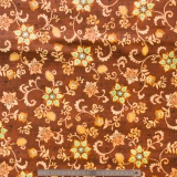 Tissu quilting treasures Floral scroll brun