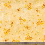 Tissu quilting treasures Floral sprays chamois
