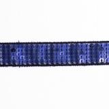 Galon paillette 20mm bleu foncé