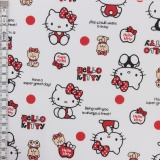 Tissu Hello Kitty bear dot blanc - 468