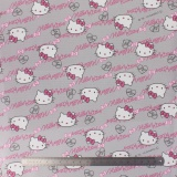Tissu Hello Kitty oxford gris 100%coton L109cm - 468