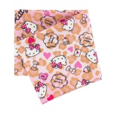 Coupon 50x54cm Hello Kitty heart léopard rose - 468