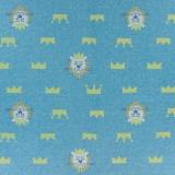 Tissu sweat kiyohara lion 83cm bleu - 468