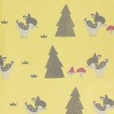 Tissu molleton sweat bambi jaune 180cm - 468