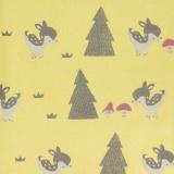 Tissu molleton sweat Kiyohara bambi jaune 180cm - 468