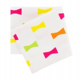 Coupon 50x54cm nœud blanc multicolor - 468