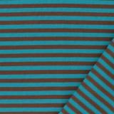 Tissu jersey marron/turquoise - 468