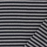 Tissu jersey gris/marine laize de 85 cm 100%coton - 468