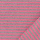Tissu jersey gris/rose laize de 85 cm 100%coton - 468