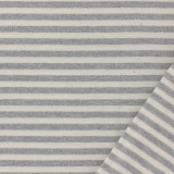 Tissu jersey gris/blanc laize de 85 cm 100%coton - 468