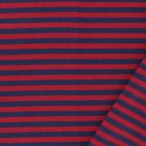 Tissu jersey marine/rouge - 468