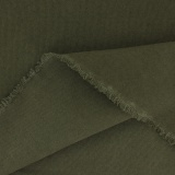 Tissu vintage coton délavé laize 110cm kaki - 468