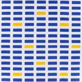Toile Kiyohara bloc marine jaune 110cm - 468