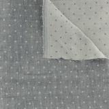 Tissu Kiyohara double gaze chambray à pois marine - 468