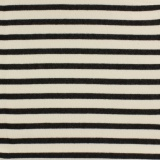 Tissu molleton sweat écru rayé noir 180cm - 468