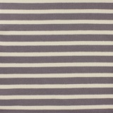 Tissu molleton sweat écru rayé gris 180cm - 468
