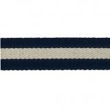 Sangle marine/écru 38mm 100%polyester - 468