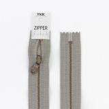 Zipper métal coton délavé gris - 20cm x2 - 468