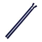 Zipper bicolore marine/blc 40cm x2 - 468